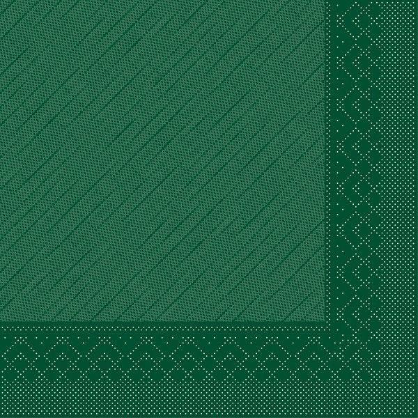 Tissue Deluxe Serviette Grün, 40 x 40 cm, 50 Stück - Mank